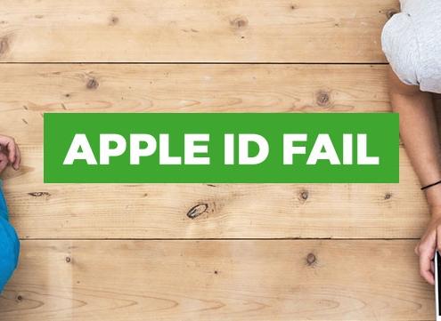apple id fail