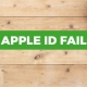 apple id fail