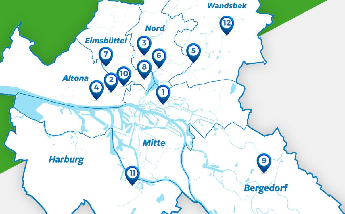 Wir sind für dich da und das in ganz Hamburg, yeah